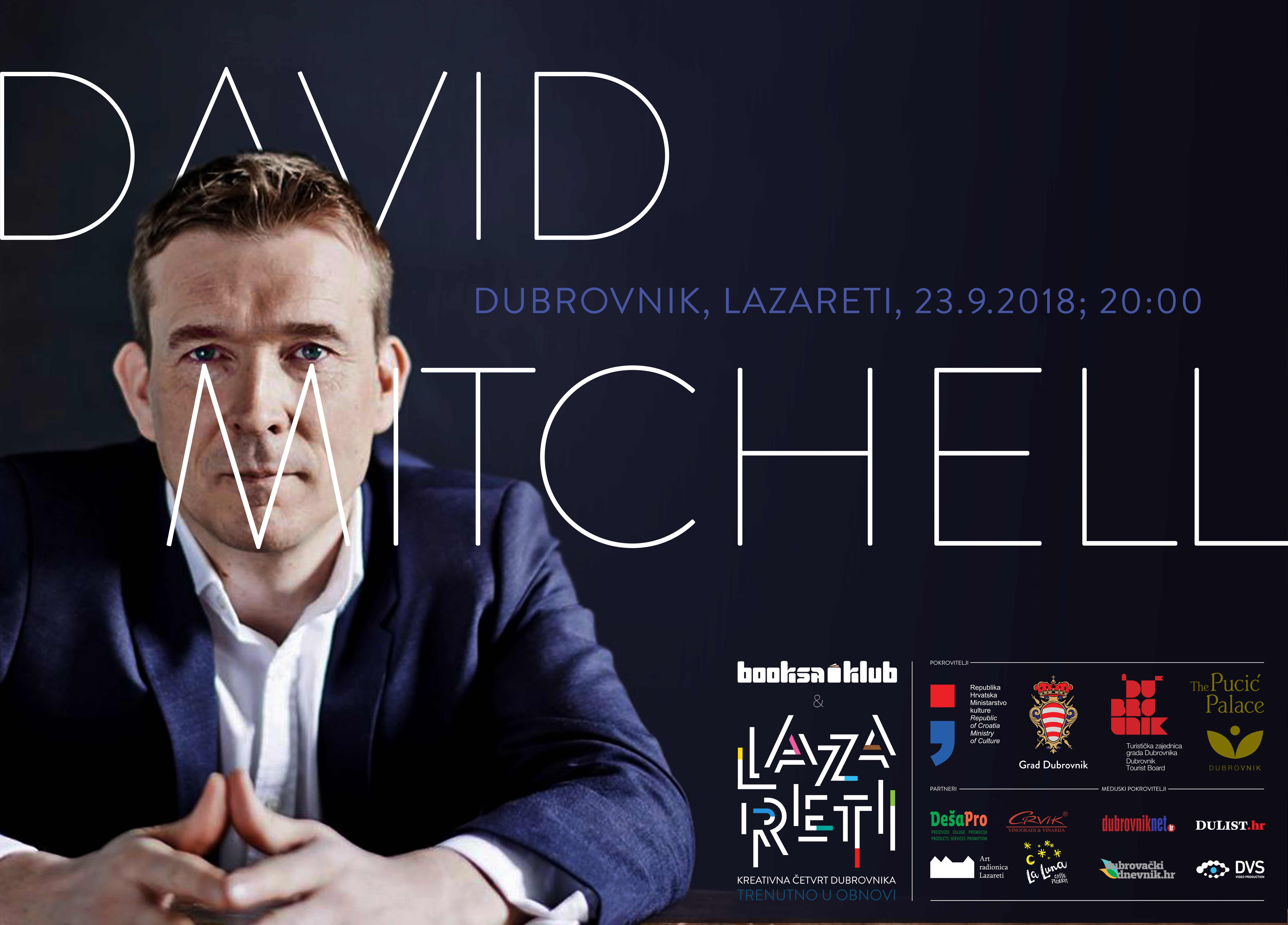 Književni susret s Davidom Mitchellom u Lazaretima
