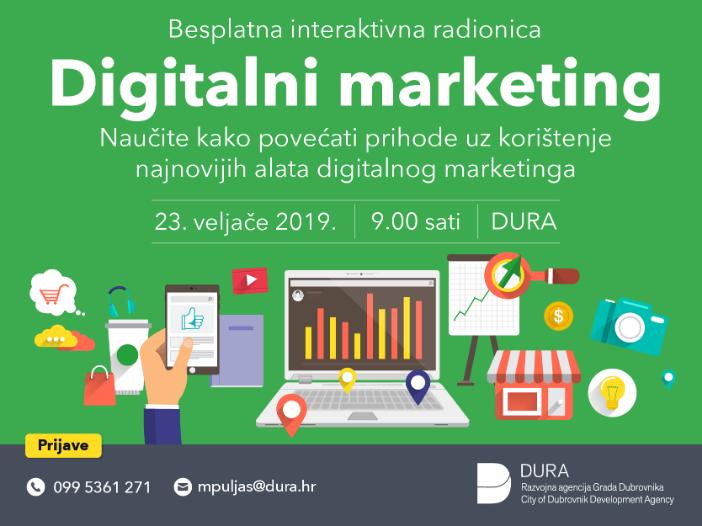 besplatnu radionicu Digitalni marketing