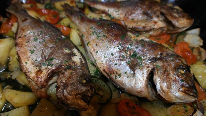 Pečena riba s povrćem